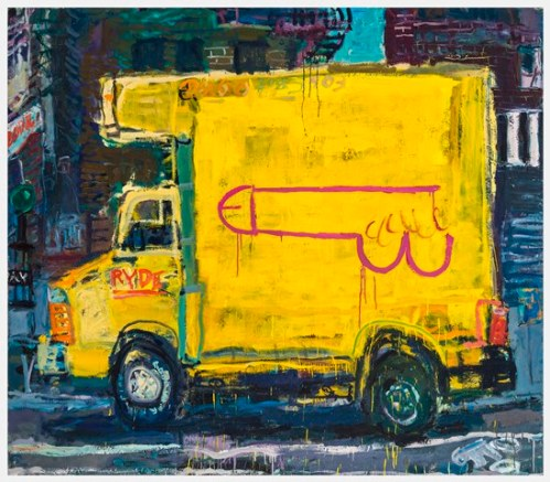 Dick Truck, oil on canvas, 67