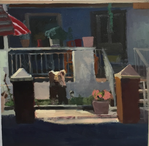 Kevin's House 12x12 OIl on panel 2016