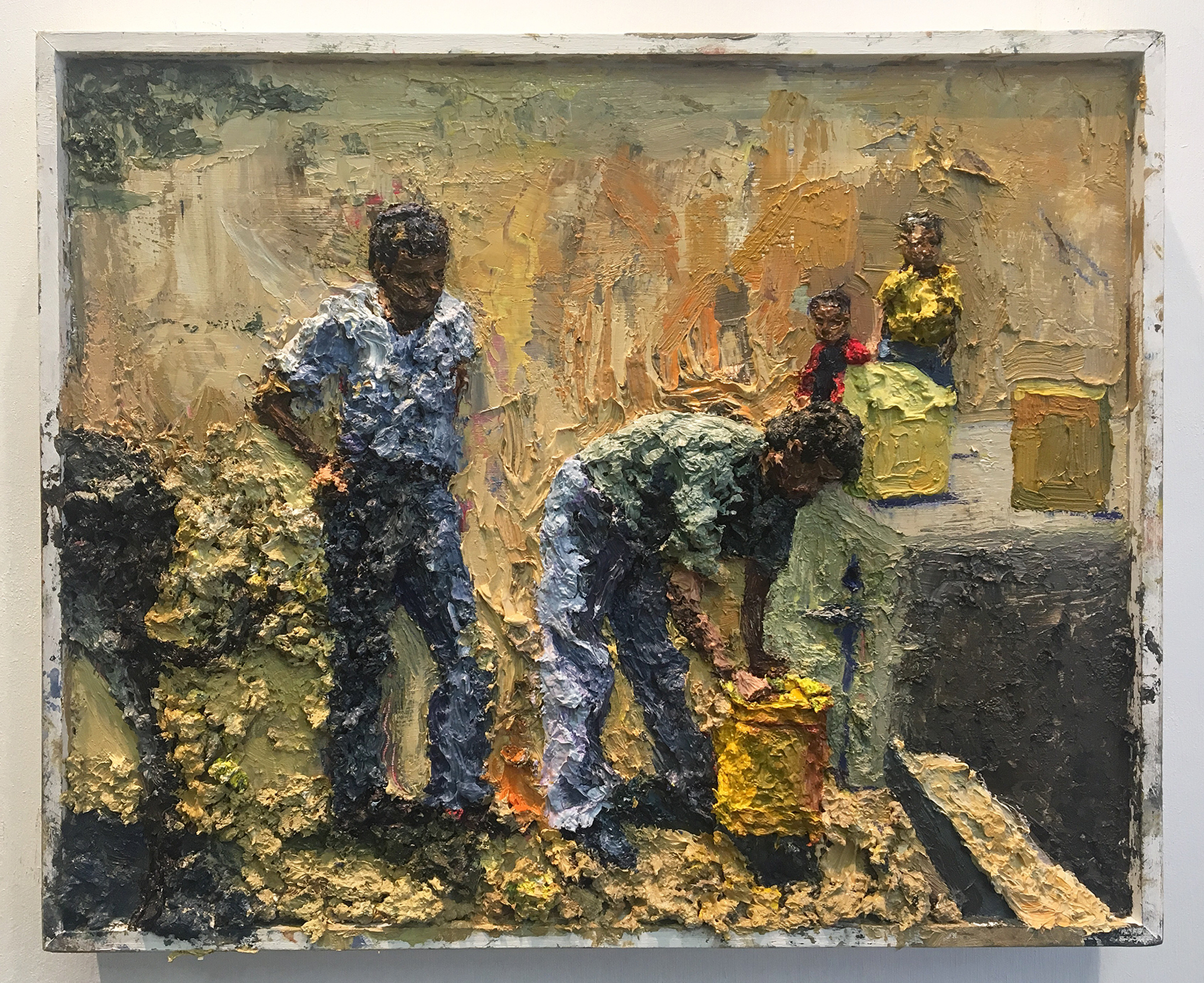 Yellow Jerrycans Relief 14x17inch